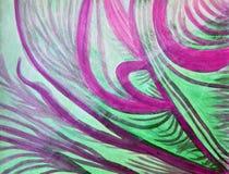 La guérison ondule dans pourpré, vert, et blanc Photo libre de droits