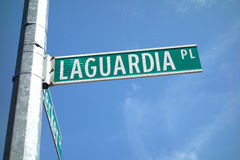 La Guardia Place Stock Photo