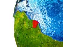 La Guayana Francesa en la tierra 3D stock de ilustración