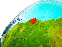 La Guayana Francesa en la tierra 3D libre illustration