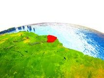 La Guayana Francesa en la tierra 3D ilustración del vector