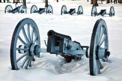 La guerra Canon dell'artiglieria alla valle forgia il parco nazionale Fotografia Stock Libera da Diritti