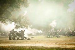 La guerra civil Canon enciende Fotos de archivo libres de regalías