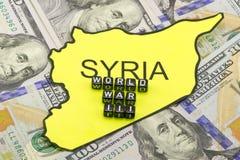 La guerra del Tercer mundo en Siria fotografía de archivo