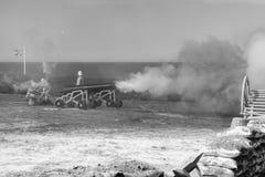La guerra a partir de la era victoriana foto de archivo