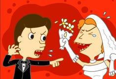 La guerre de mariage illustration de vecteur