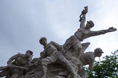 La guerre du qundiao de porcelaine d'armée de libération Images libres de droits