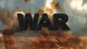 La guerre du tiers monde Le danger de la guerre banque de vidéos