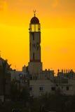 La guerre a endommagé la mosquée en Al Zana, bande de Gaza Photographie stock