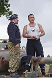 La guerre et la paix affichent 2011 Images libres de droits