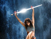 La guerrière de femme Photographie stock libre de droits