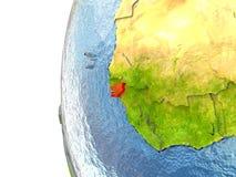 La Guinée-Bissau en rouge illustration libre de droits