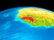 La Guinée en rouge Photographie stock