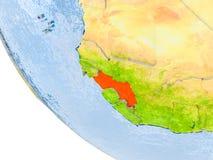 La Guinée sur le globe Image libre de droits