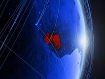 La Guinea su terra digitale blu blu fotografie stock libere da diritti
