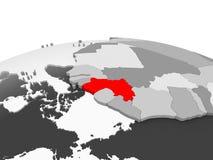 La Guinea sul globo grigio illustrazione vettoriale