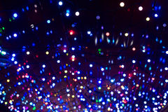 La guirlande de Noël allume le fond Images libres de droits