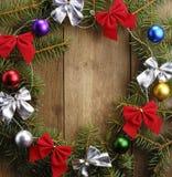 La guirnalda de la Navidad imagenes de archivo