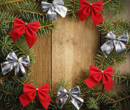 La guirnalda de la Navidad foto de archivo