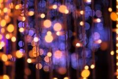 La guirnalda de la Navidad enciende el fondo Fotos de archivo libres de regalías