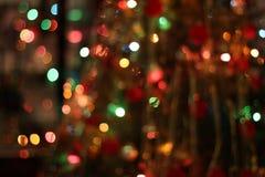 La guirnalda de la Navidad enciende el fondo Imagenes de archivo