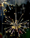 La guirnalda de las luces LED de Brights protagoniza el copo de nieve Foto de archivo libre de regalías