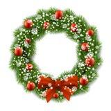 La guirnalda de la Navidad adornó bolas Fotos de archivo