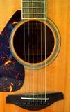 La guitarra ata el primer Imagen de archivo libre de regalías