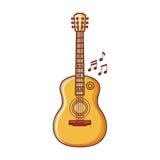 La guitarra es un instrumento musical Imagen del vector Imagen de archivo
