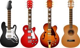 La guitarra fijó 1 Fotografía de archivo libre de regalías