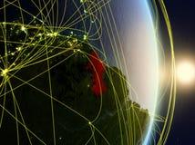 La Guyana su pianeta Terra di reti fotografia stock libera da diritti