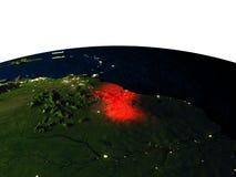La Guyane de l'espace la nuit illustration de vecteur