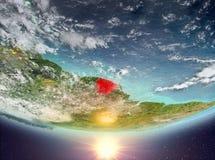 La Guyane française française avec le soleil Photographie stock libre de droits