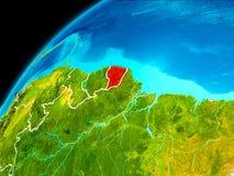 La Guyane française française de l'espace Photo libre de droits