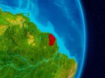La Guyane française française de l'espace Images libres de droits