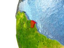 La Guyane française française en rouge illustration stock