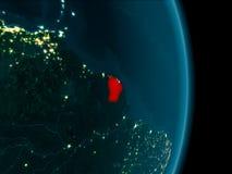 La Guyane française française la nuit Image libre de droits
