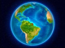 La Guyane française française sur terre Photographie stock