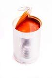 La haba cocida al horno abierta puede Foto de archivo libre de regalías