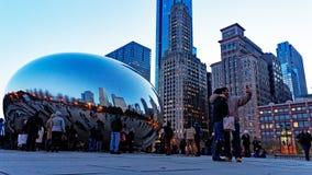 La haba en la noche, parque del milenio, Chicago Illinois, los E.E.U.U. de Chicago fotos de archivo libres de regalías