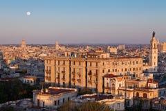 La Habana en la puesta del sol Imagen de archivo