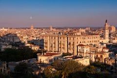 La Habana en la puesta del sol Imagen de archivo libre de regalías