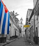 La Habana vieja patriótica Foto de archivo libre de regalías