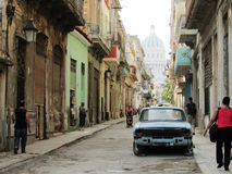 La Habana Vieja. A shot I took while walking through the small streets of the Old Havana Stock Image