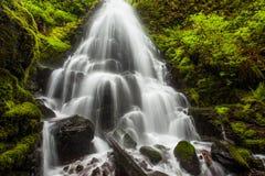 La hada cae en la garganta del río Columbia, Oregon Foto de archivo