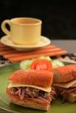 La hamburguesa Imagenes de archivo