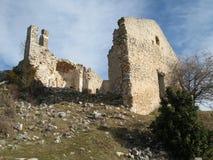 La hameau abandonnée, France photographie stock
