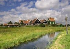 La hameau Grotewerf sur Marken images stock