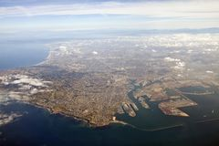 LA Harbor Aerial Royalty Free Stock Images