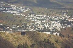 La Haria in Lanzarote - popular tourist destination. Royalty Free Stock Photos